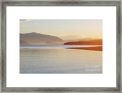 Sunset In The Mist Framed Print