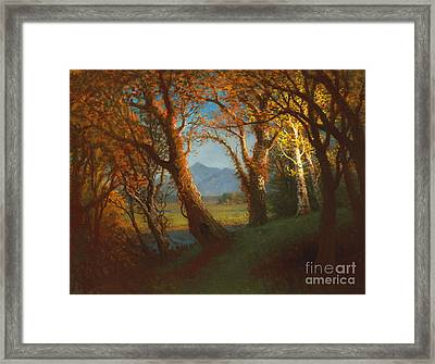 Sunset In The Nebraska Territory Framed Print by Albert Bierstadt