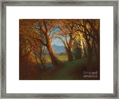 Sunset In The Nebraska Territory Framed Print by Albert Bierstadt