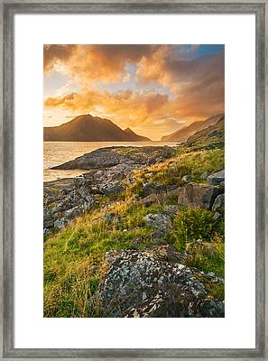 Framed Print featuring the photograph Sunset In The North by Maciej Markiewicz