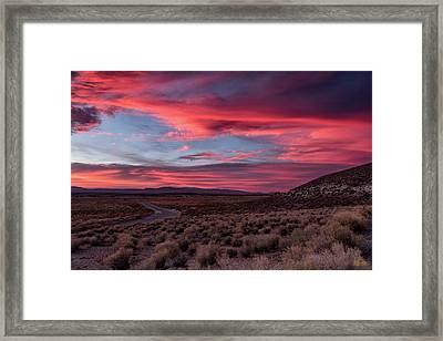 Framed Print featuring the photograph Sunset In The Owens River Valley by Stuart Gordon