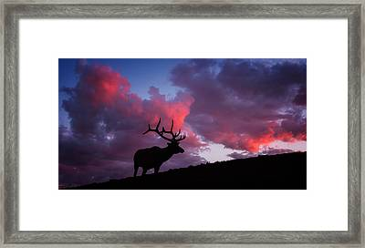 Sunset In The Rockies Framed Print by Darren White