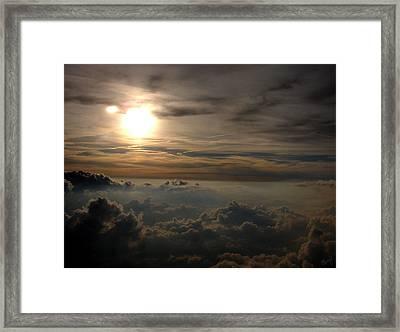 Sunset In The Sky Framed Print