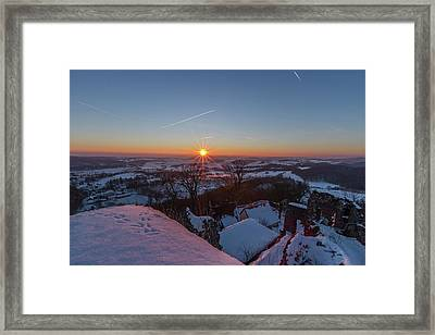 sunset in the Southern Harz Framed Print by Andreas Levi