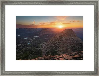 Sunset In The Uinta Mountains Framed Print