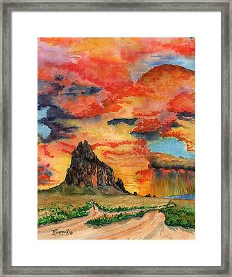 Sunset In The West Framed Print by Timithy L Gordon
