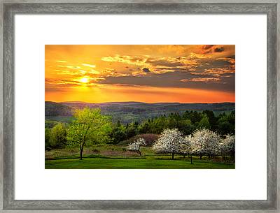 Sunset In Tioga County Pa Framed Print