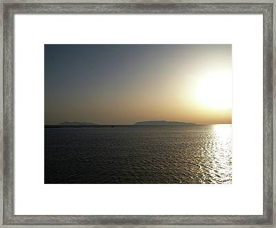 Sunset In Trapani Framed Print