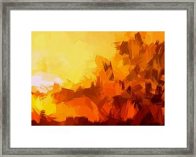 Sunset In Valhalla Framed Print