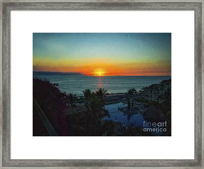Sunset In Vallarta  ... Framed Print