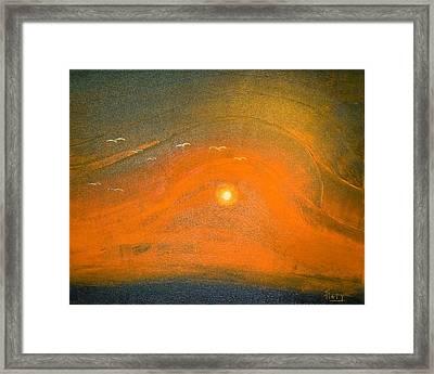 Sunset In Valleys Framed Print by Piety Dsilva