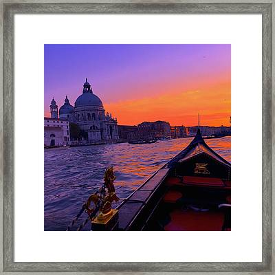 sunset in Venice Framed Print by Happy Home Artistry