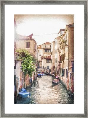 Sunset In Venice Framed Print by Traven Milovich