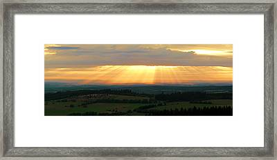 Sunset In Vogelsberg Framed Print