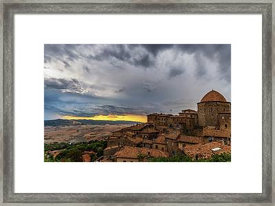 Sunset In Volterra Framed Print