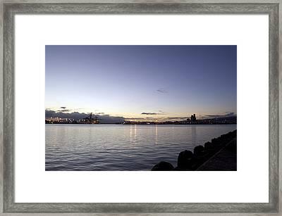 Sunset In Waikiki Framed Print