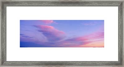Sunset In Western Arizona Framed Print