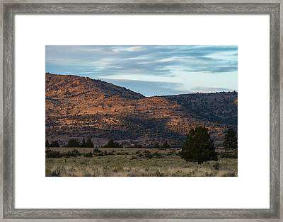 Sunset In Willow Creek Valley Framed Print