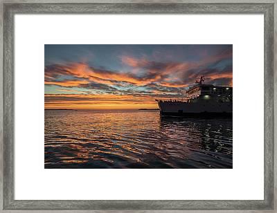 Sunset In Zadar No 1 Framed Print by Chris Fletcher