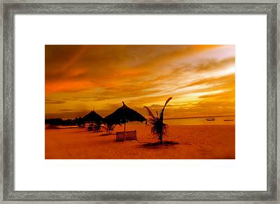 Sunset In Zanzibar Framed Print by Joe  Burns
