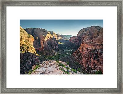 Sunset In Zion National Park Framed Print by JR Photography