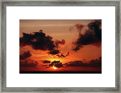 Framed Print featuring the photograph Sunset Inspiration by Jenny Rainbow
