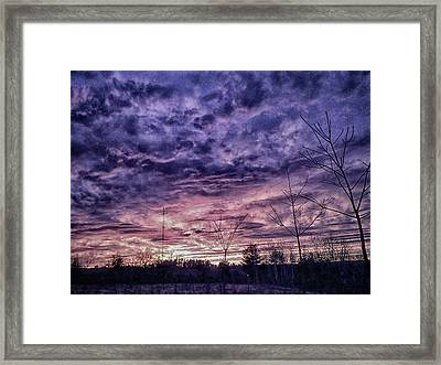 Sunset Interpretation Framed Print by Randi Shenkman