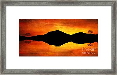 Sunset Island Framed Print