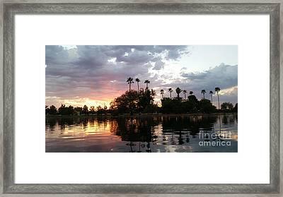 Sunset Island In Chaparral Lake Horizontal  Framed Print