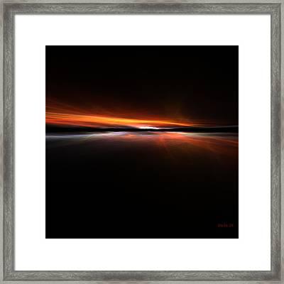 Sunset Island Framed Print by Steve K