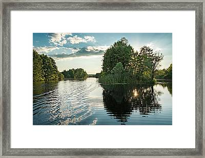 Sunset Islet. Sedniv, 2015. Framed Print