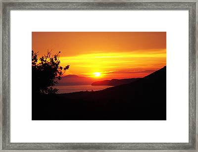 Sunset Framed Print by Jacqueline Doulis