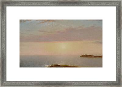 Sunset Framed Print by John Frederick Kensett