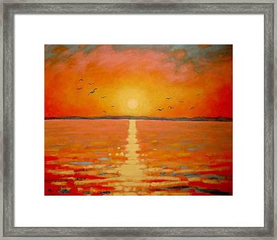 Sunset Framed Print by John  Nolan