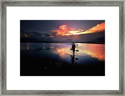 Sunset Framed Print by Julayne Luu