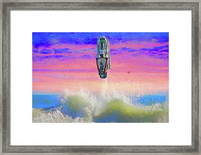Sunset Jumper Framed Print