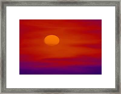 Sunset Framed Print by Karen Conine