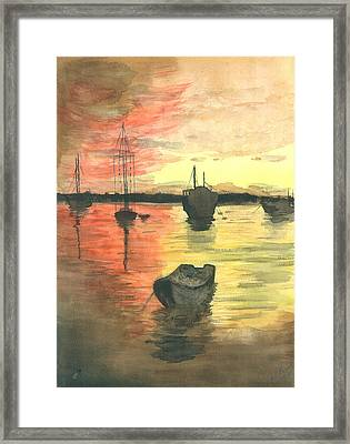 Sunset Lagoon Framed Print by Dan Bozich