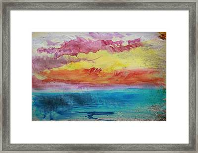 Sunset Lagoon Framed Print