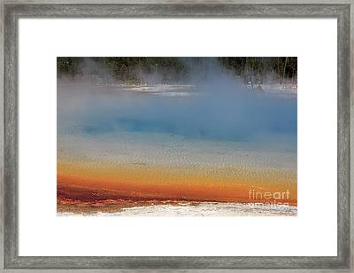 Sunset Lake In Black Sand Basin Yellowstone National Park Framed Print by Louise Heusinkveld