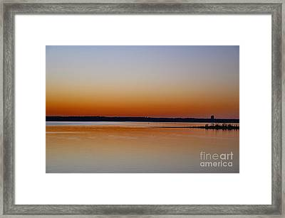 Framed Print featuring the photograph Sunset Lake Texhoma by Diana Mary Sharpton
