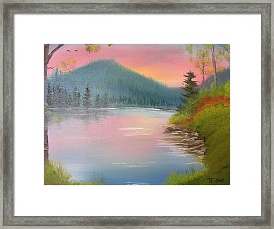 Sunset Lake Framed Print
