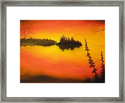Sunset Lake1 Framed Print by Ron Sargent