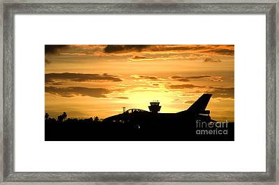 Sunset Landing This Chilean Air Force Framed Print