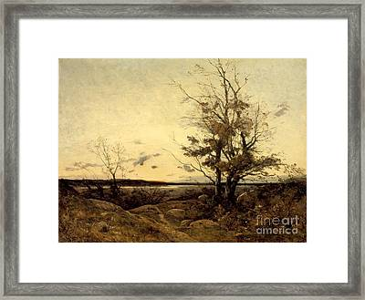 Sunset Landscape Framed Print by MotionAge Designs