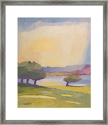 Sunset Landscape Framed Print by Lutz Baar