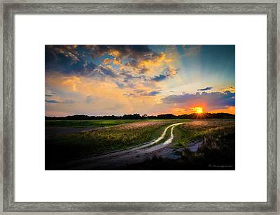 Sunset Lane Framed Print
