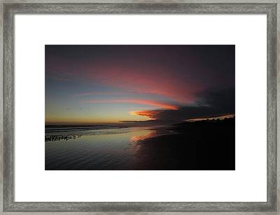 Sunset Las Lajas Framed Print by Daniel Reed