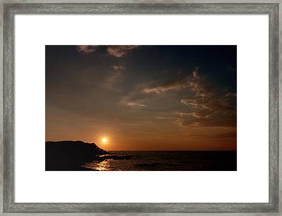 Framed Print featuring the photograph Sunset   by Laura Melis