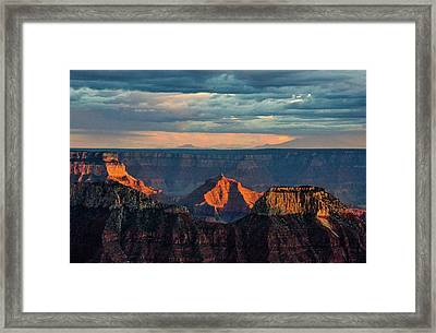 Sunset Lights Angels Gate Framed Print